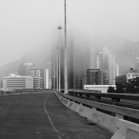 Fog in Cape Town.