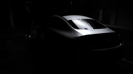 C63 in the garage