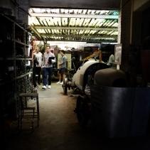 Scouting the garage location in Villa Bugatti