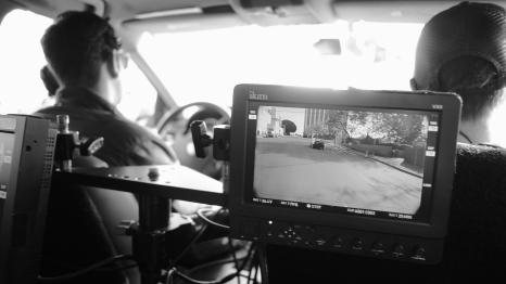 shooting he Camry from the persuit vehicle, Matt driving.
