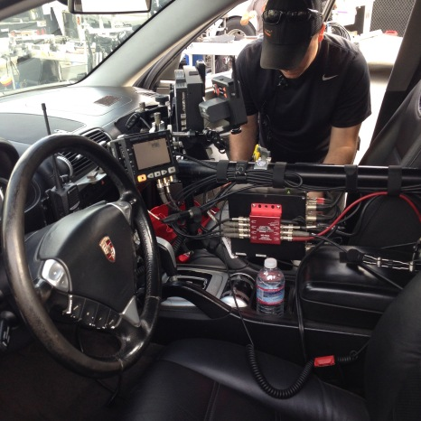 This is what it looks like in the drivers seat of the Pursuit System!
