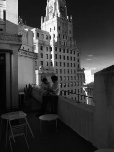 Xoan and Jorge on the Señora Rushmore terrace