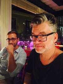 The great Franz Lustig, DOP, and the equally great Uli, Producer.
