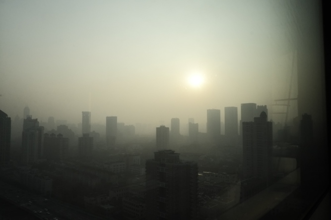 this wasn't fog, it was pollution!
