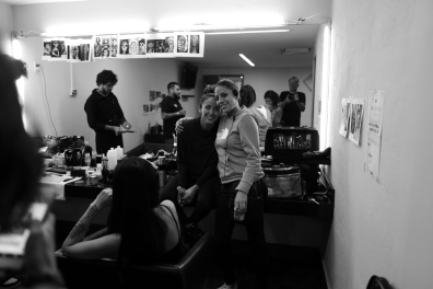 Jahel and her amazing makeup team.